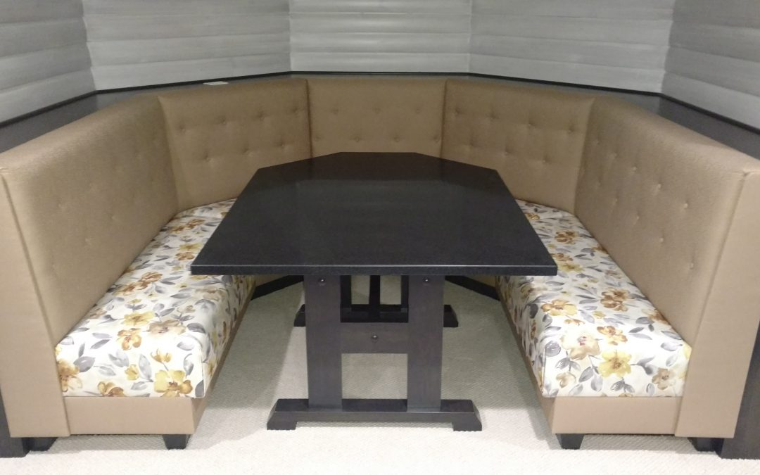 CUSTOM BOOTH AND TABLE